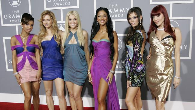 The Pussycat Dolls arrive at the Grammy Awards. Photo: AFP