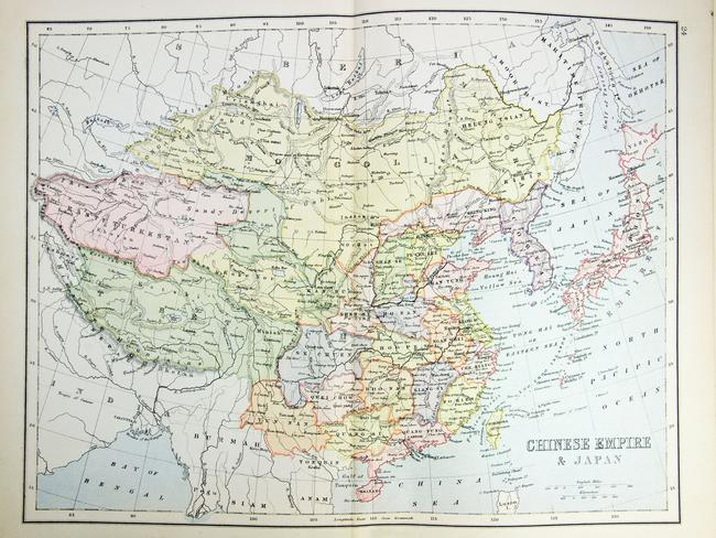 Historical map of China. Picture: Thinkstock