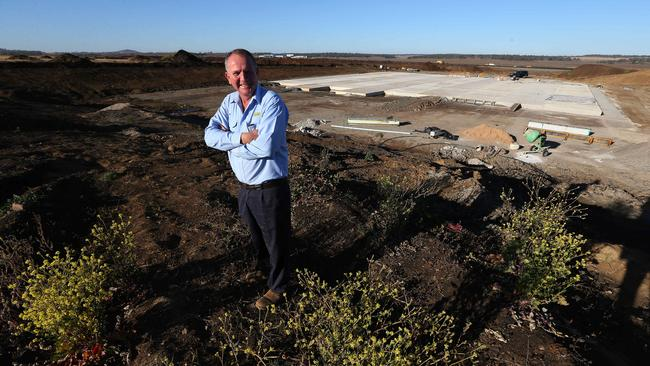 Joe Wagner at the new Brisbane West Wellcamp Airport site in July. Picture: Lyndon Mechielsen