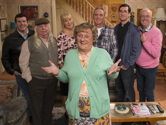 Brendan O'Connell as Mrs Brown in a scene from the movie adaptation of the TV comedy.