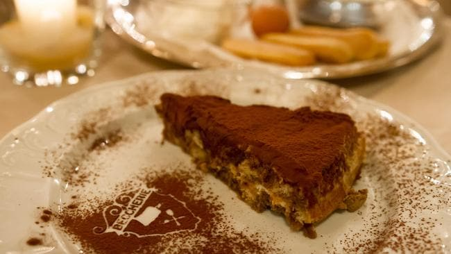 How the Tiramisu is served at Le Beccherie.