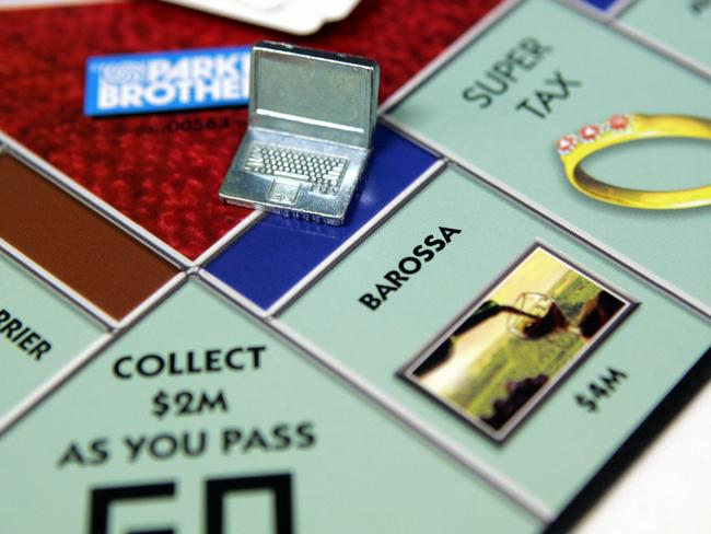 Hasbro has even launched an Australian version of monopoly with the Barossa as the most expensive property on the board.