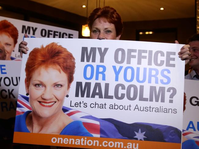 A new political force … New senator Pauline Hanson. Picture: Liam Kidston