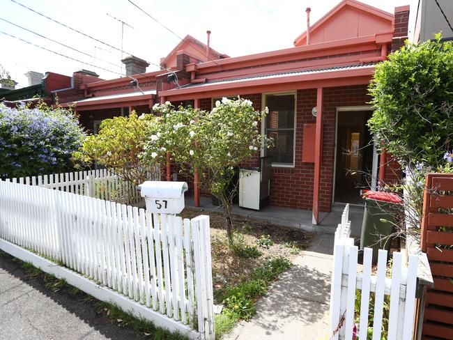 The home in Kensington where single mother Sarah Gatt was found decomposing in the bathroom. Picture: Aaron Francis/The Australian
