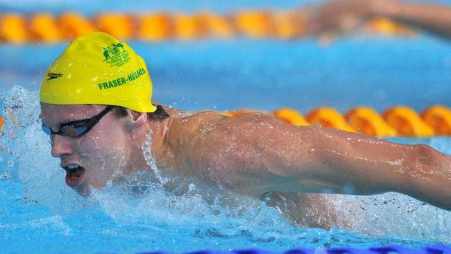 Thomas Fraser-Holmes swims to silver in the 400m individual medley.