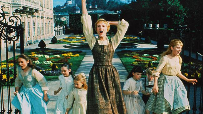 Julie Andrews in 1965 movie The Sound Of Music.