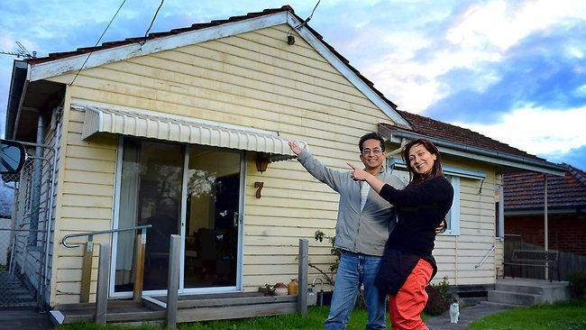Shahab and Saima Qureshi were giving away their three-bedroom home in Coburg, Melbourne. Picture: Tim Carrafa