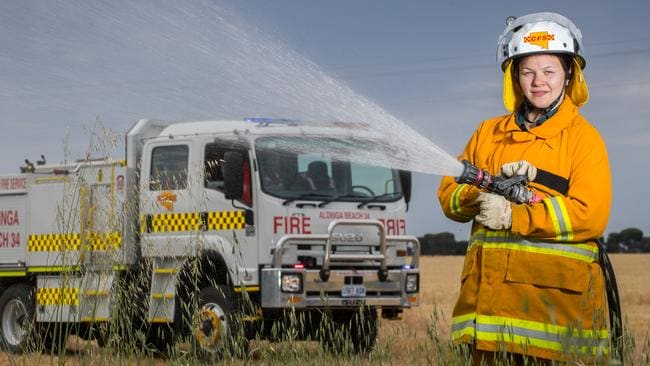 Bethany Brown from the Aldinga CFS. Picture: MATT LOXTON