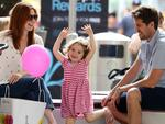 <p>Alyson Hannigan was all smiles while watching her daughter Satyana dance at the 3rd. Street Promenade in Santa Monica. The performer played violin to modern pop music and got quite a rise out of Satyana and the rest of the crowd. Picture: SplashPicture: Splash</p>
