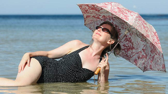 Pammy Punch relaxes in Stingray Bay, Warrnambool. Picture: Sharrock Robin
