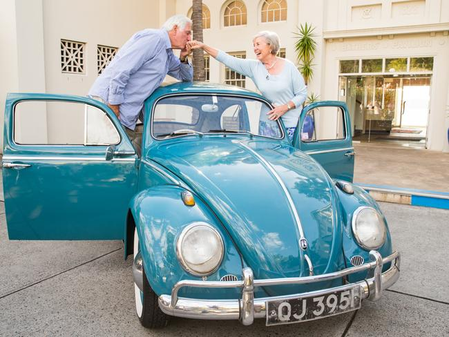 The classic VW Beetle which Ivan and Beth Hodge had their honeymoon in 1961. Picture: Graham Monro