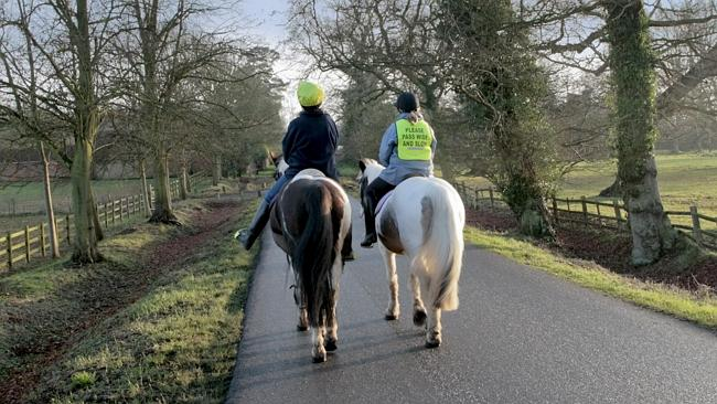 "It is an offence to upset ""restive"" horses. Pict..."