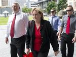 Bruce, Denise, Bradley and Dean at the Supreme Court in Brisbane this week as Cowan's month-long trial nears its end. Picture: AAP