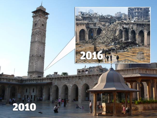 Aleppo, Syria 'before and after' photos show the devastation of war; Megan Palin; News.com.au