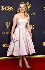 Elisabeth Moss attends the 69th Annual Primetime Emmy Awards at Microsoft Theater on September 17, 2017 in Los Angeles. Picture: Getty