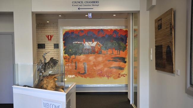 Artworks by Rolf Harris will be removed from Bassendean Council chambers. Picture: Theo Fakos
