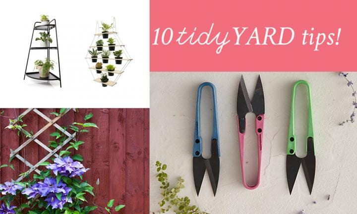 10 tips for a much tidier backyard