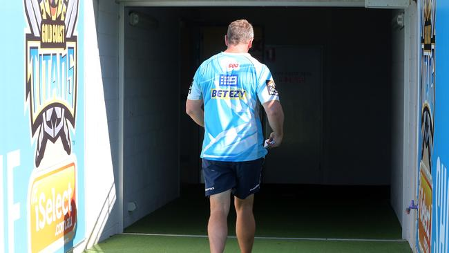 John Cartwright leaving the stadium for the last time as coach.