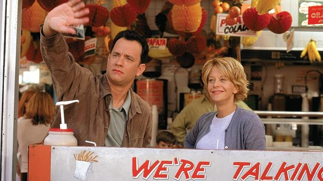 """Tom Hanks and Meg Ryan in a scene from the romantic comedy """"You've Got Mail"""". Picture: AP/Warner Bros."""