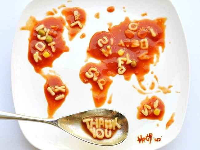 A message to her fans around the world at the end of her food-themed month. Picture: Hong Yi