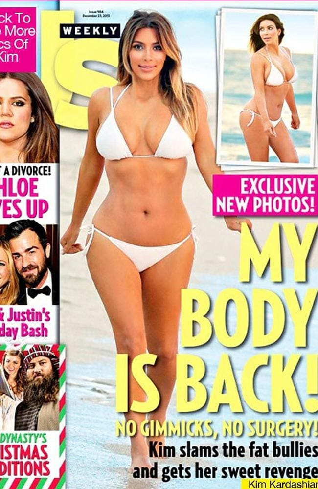 Kardashian on the cover of UsWeekly. Picture: Us Weekly