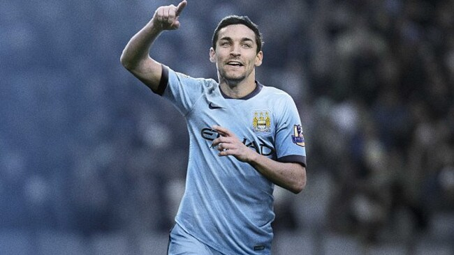 Nike again shows it's class with City's home kit, which features navy strips instead of white.  <b>Away</b> <b></b>