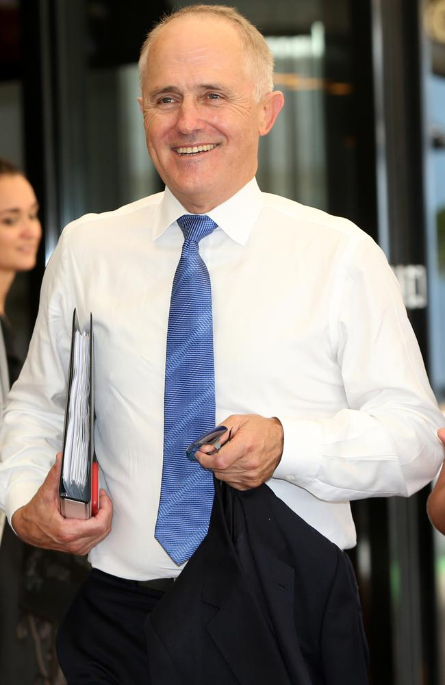 Fifth-richest: Australian PM Malcolm Turnbull. Picture: Jono Searle