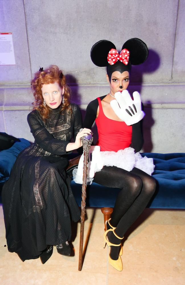 Jessica Chastain and Joan Smalls interpreted the theme very differently. Picture: Splash