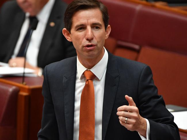 Education Minister Simon Birmingham said Australia's HECS repayment threshold was still much higher than New Zealand's.