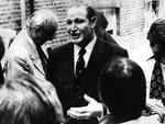 <p>Kerry Packer addresses a press conference in London.</p>