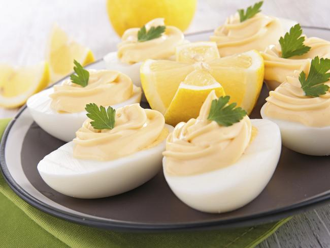 Deviled eggs are the best, especially in winter.