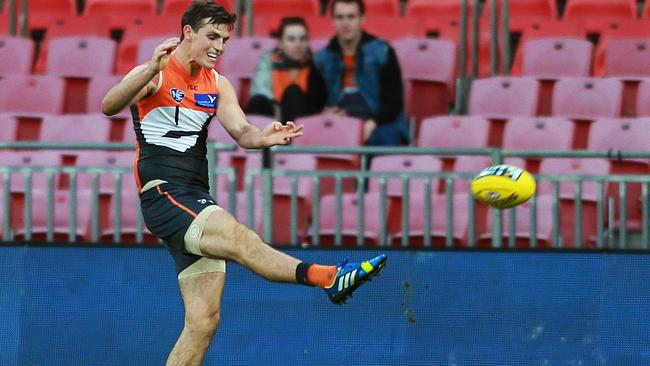 GWS co-captain Phil Davis makes his long-awaited return from kidney damage. Picture: Toby Zerna