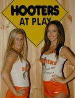 <p>Hooters Girls Laine and Rachael from Hooters Cronulla</p>