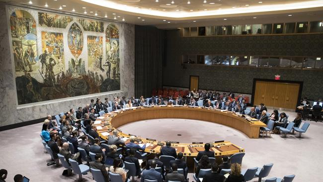 The United Nations Security Council. Picture: AP