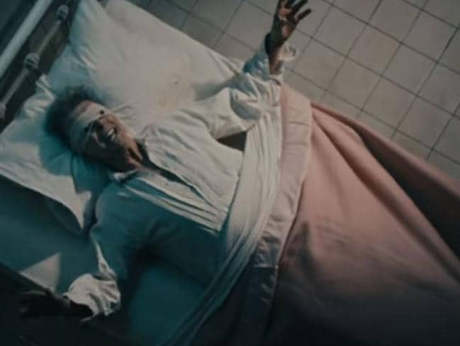Bowing out ... the video for David Bowie's song Lazarus was released just days before his death. Picture: Supplied