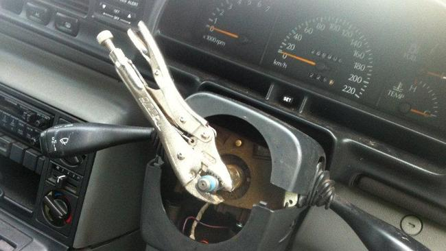 Driver busted for using a frying pan as a steering wheel