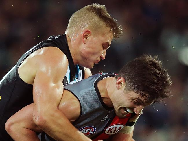 David Myers was important during Essendon's win over Port Adelaide.