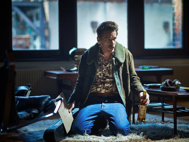 Ethan Hawke plays anti-terror agent John who suffers grievous injury in the film Predestination.