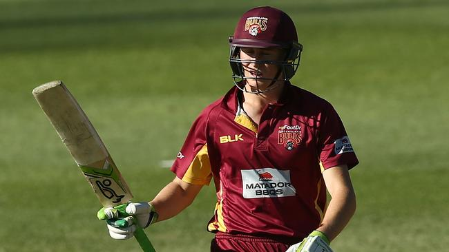 Marnus Labuschagne scored 89 to help Queensland beat Victoria on Tuesday.