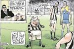 Mark Knight's cartoon after Lou was denied legendary status by the AFL.
