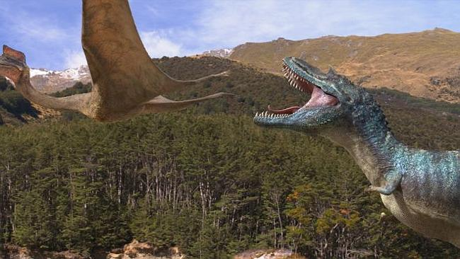 """Not chicken ... Walking With Dinosaurs 3D's producers shied away from giving a cousin of the T-Rex """"fluffy feathers""""."""