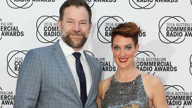 Anthony 'Lehmo' Lehmann and Jo Stanley looking dapper at the Commercial Radio Industry Awards. Picture: Yuri Kouzmin