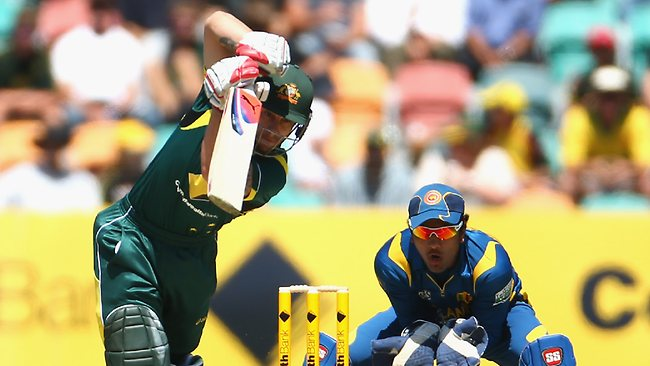 Matthew Wade on the drive for Australia. Picture: Robert Cianflone