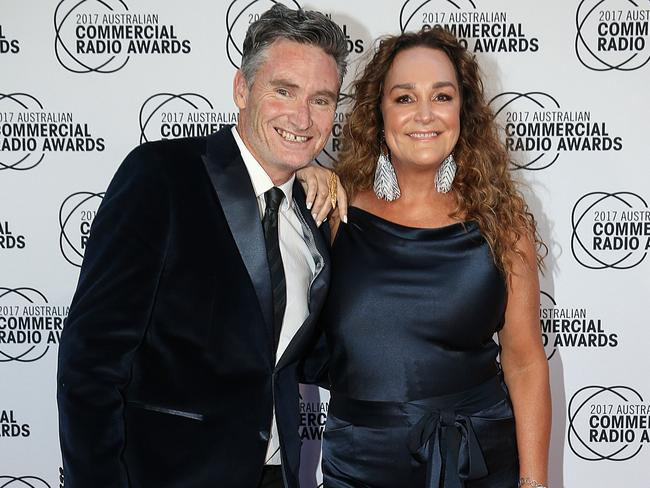 Dave Hughes and Kate Langbroek at last weekend's ACRAs. Picture: Ian Currie