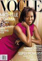<p>First Lady Michelle Obama on the cover of USA Vogue magazine.</p>