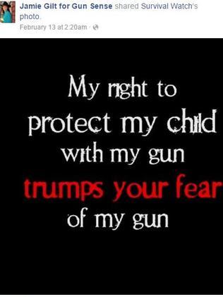 Gun supporter. Picture: Jamie Gilt for Gun Sense/Facebook