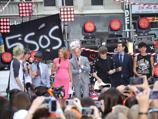 5 Seconds of Summer perform in New York on NBC's Today show.