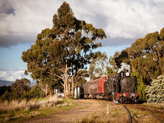 A steam train ride is the best way to soak up the gorgeous views on offer between Castlemaine and Maldon.