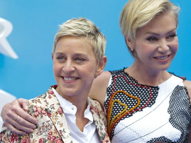 US actress and television host Ellen DeGeneres (L) was driven to hospital by Portia De Rossi. Picture: AFP