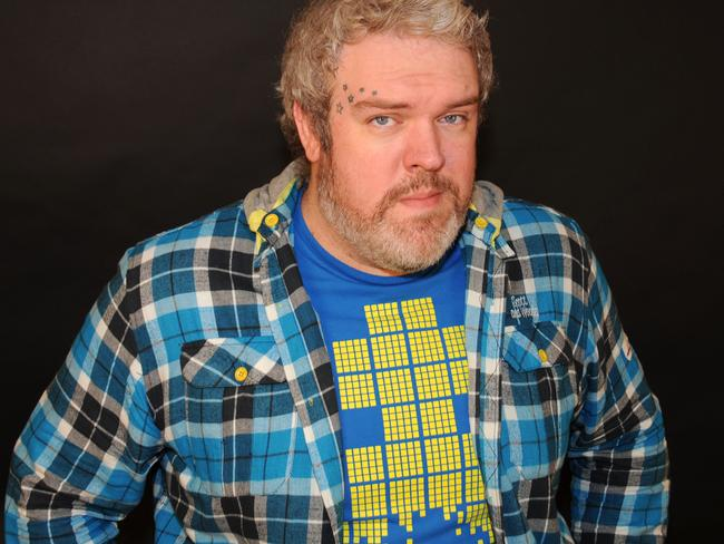 Kristian Nairn, aka Hodor, is ready to party.